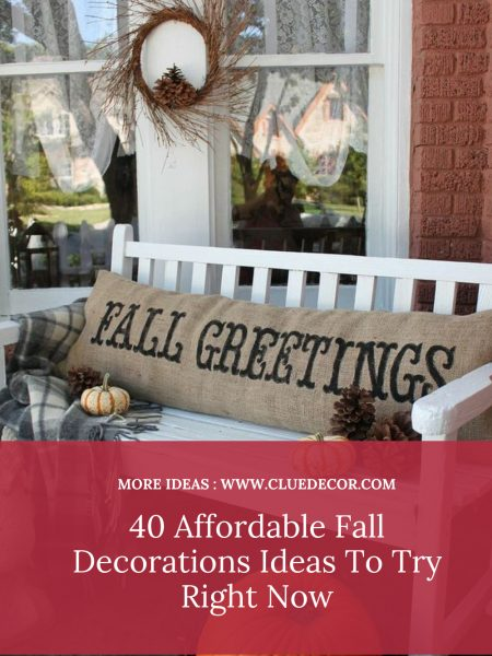 40 Affordable Fall Decorations Ideas To Try Right Now