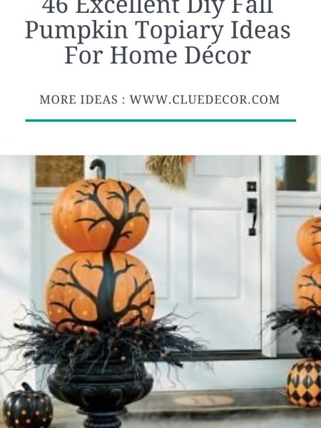 46 Excellent Diy Fall Pumpkin Topiary Ideas For Home Décor