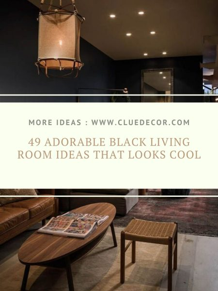 49 Adorable Black Living Room Ideas That Looks Cool