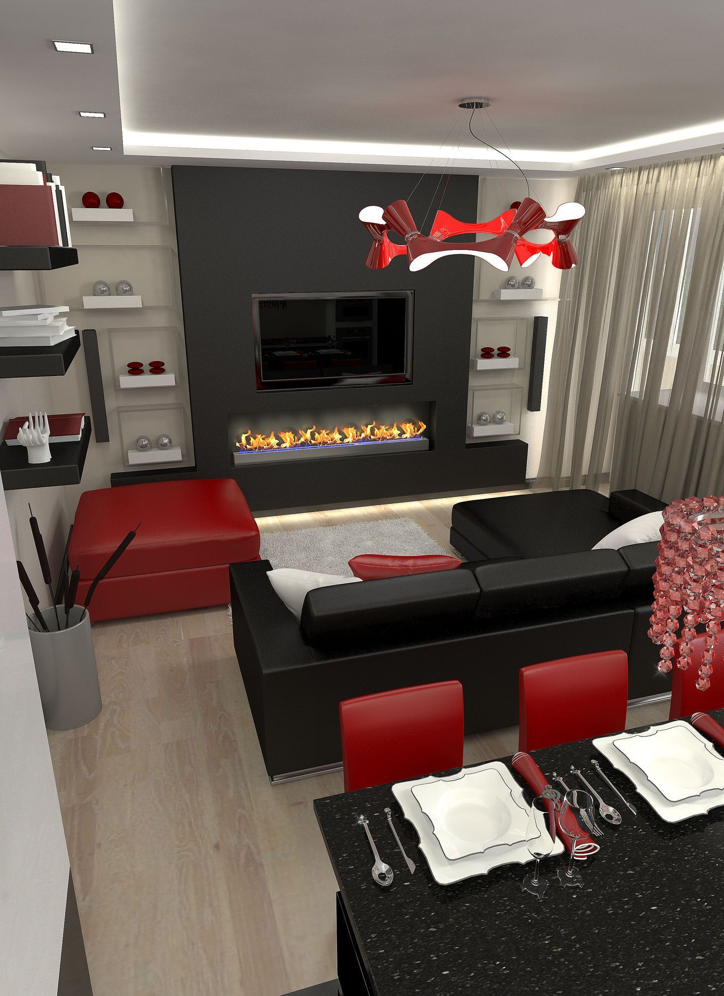 Adorable Black Living Room Ideas That Looks Cool12