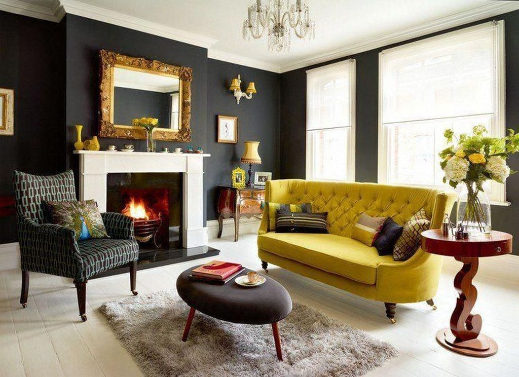Adorable Black Living Room Ideas That Looks Cool24