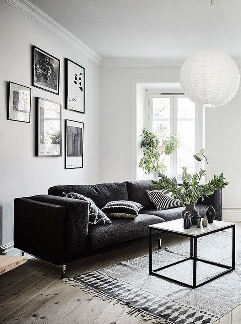 Adorable Black Living Room Ideas That Looks Cool27