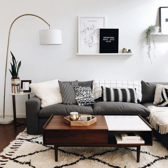 Adorable Black Living Room Ideas That Looks Cool29