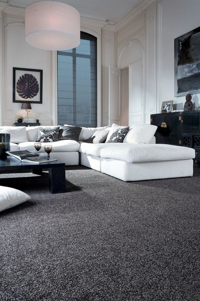 Adorable Black Living Room Ideas That Looks Cool34
