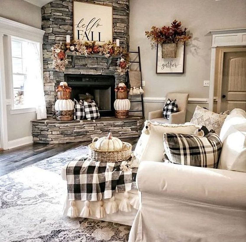 Awesome Living Room Decoration Ideas For Fall24