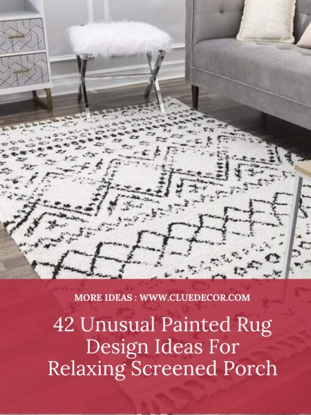 42 Unusual Painted Rug Design Ideas For Relaxing Screened Porch