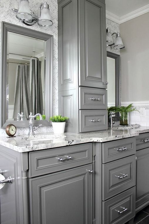 Fascinating Farmhouse Master Bathroom Remodel Ideas To Have Now29