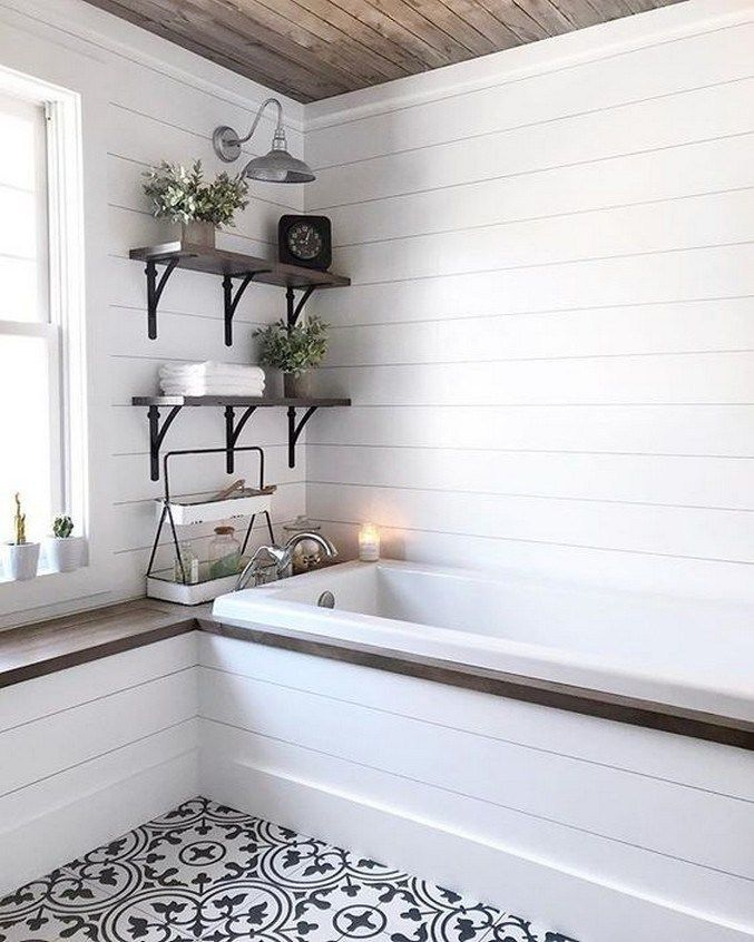 Fascinating Farmhouse Master Bathroom Remodel Ideas To Have Now38