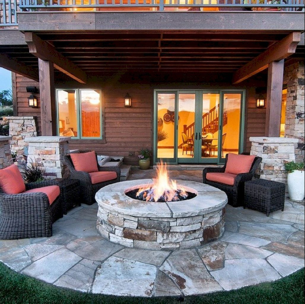 Superb Diy Fire Pit Ideas To Try In The Backyard46