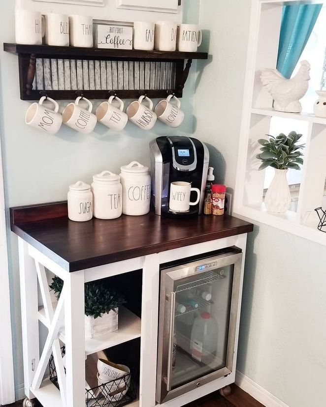 Best Home Coffee Bar Design Ideas You Must Have In Your House23