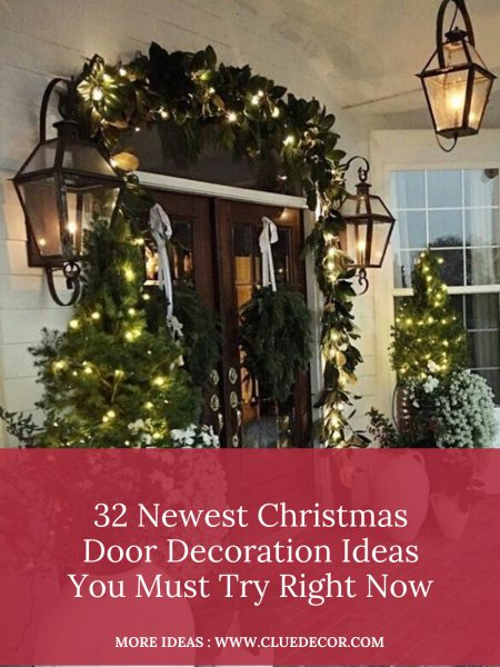 32 Newest Christmas Door Decoration Ideas You Must Try Right Now