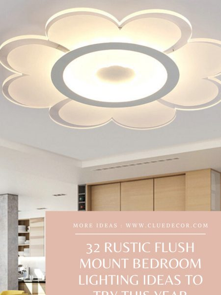 32 Rustic Flush Mount Bedroom Lighting Ideas To Try This Year