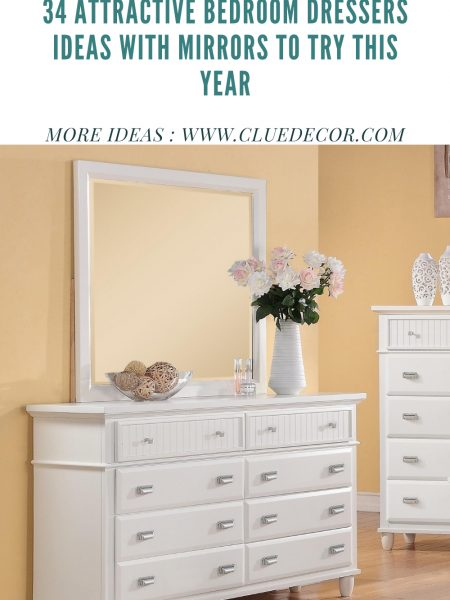 34 Attractive Bedroom Dressers Ideas With Mirrors To Try This Year
