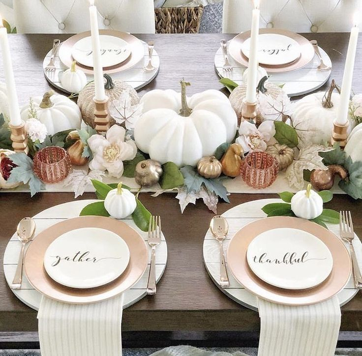 Amazing Thanksgiving Tablescapes Ideas For More Taste And Enjoyful30