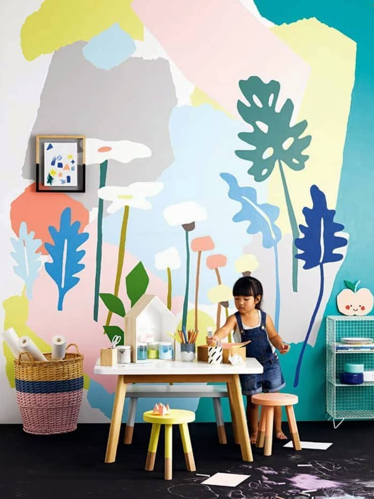 Awesome Kids Bedroom Wall Decorations Ideas That Will Make Fun Your Kids Room08