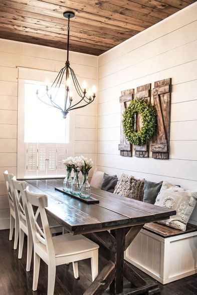 Lovely Farmhouse Dining Room Remodel Ideas To Have Asap04