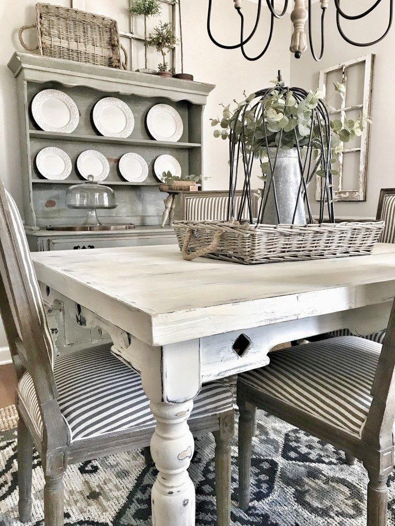 Lovely Farmhouse Dining Room Remodel Ideas To Have Asap08