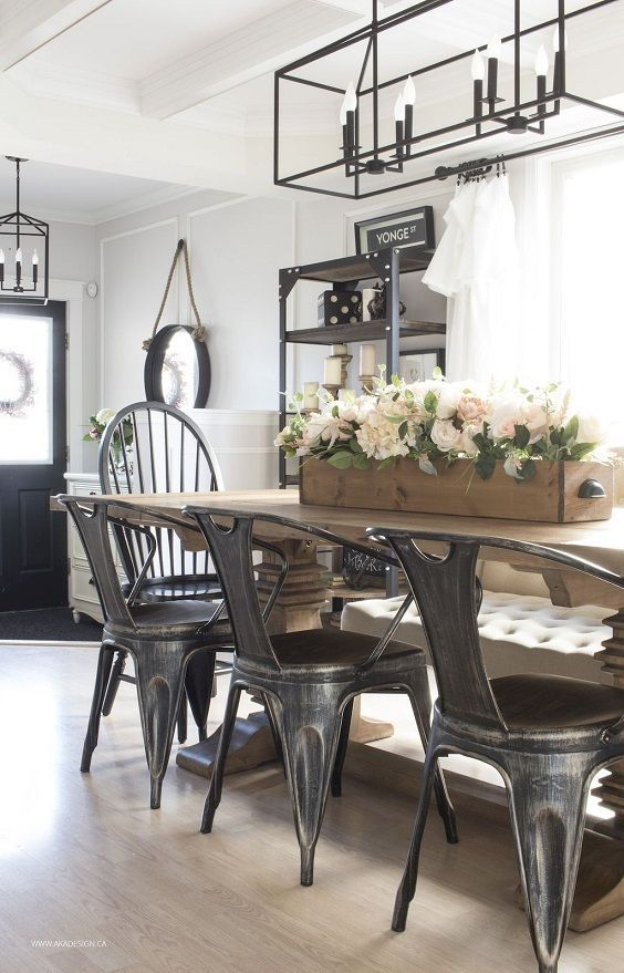 Lovely Farmhouse Dining Room Remodel Ideas To Have Asap26