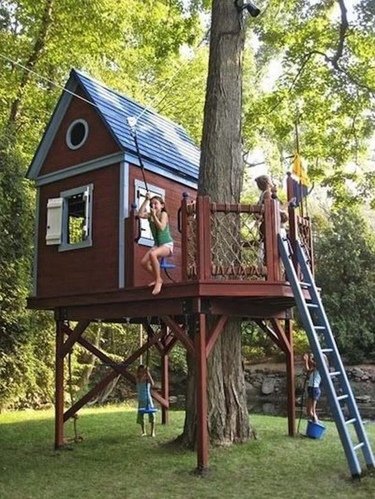 Rustic Diy Tree Houses Design Ideas For Your Kids And Family31