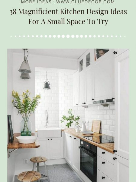 38 Magnificient Kitchen Design Ideas For A Small Space To Try