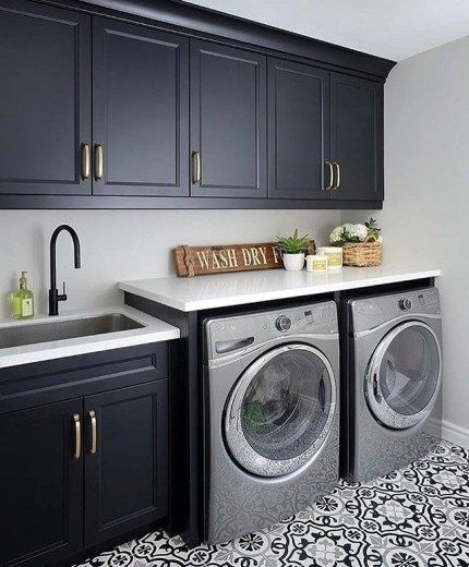Cozy Laundry Room Tile Pattern Design Ideas To Try Asap32