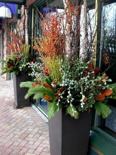 Sophisticated Container Garden Flower Ideas For This Winter To Try12