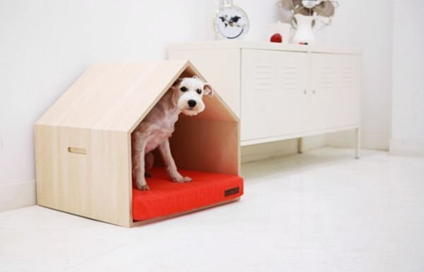 Captivating Plywood Dog House Design Ideas With Fishbone To Insoire You18
