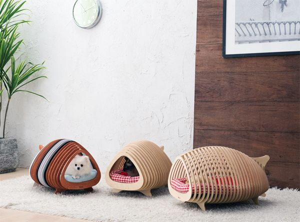 Captivating Plywood Dog House Design Ideas With Fishbone To Insoire You21