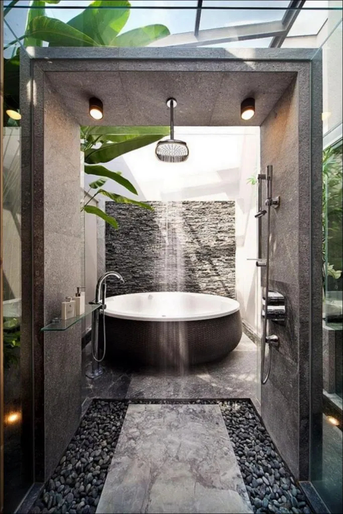 Casual Master Bathrooms Design Ideas That Connected To Nature29