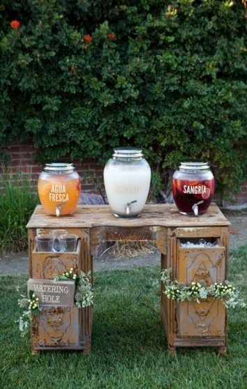 Chic Outdoor Wedding Drink Station And Bar Ideas For Winter To Try Asap09
