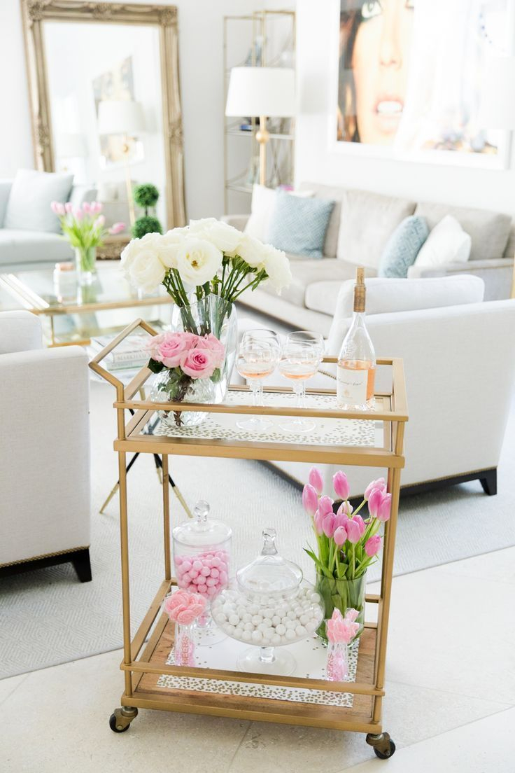 Sophisticated Bar Carts Ideas For Valentine Décor To Try Asap02