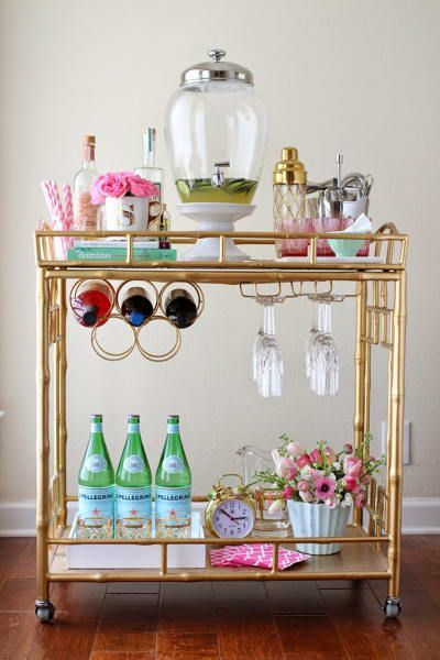 Sophisticated Bar Carts Ideas For Valentine Décor To Try Asap19