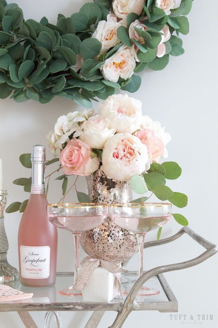 Sophisticated Bar Carts Ideas For Valentine Décor To Try Asap27