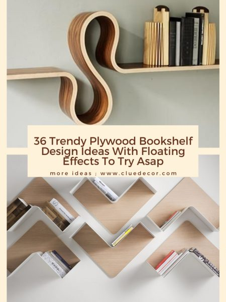 36 Trendy Plywood Bookshelf Design Ideas With Floating Effects To Try Asap