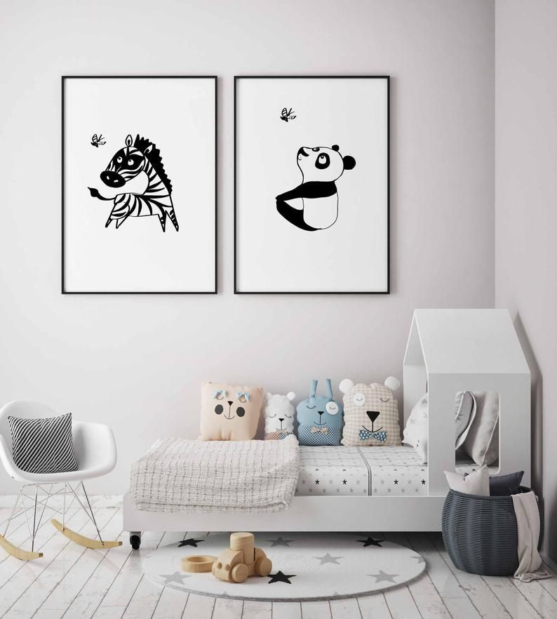 Marvelous Black And White Kids Room Design Ideas To Try This Month32