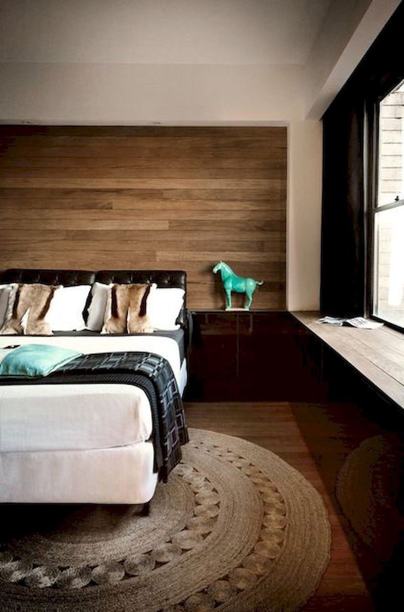 Newest Bedroom Design Ideas That Featuring With Wooden Panel Wall31