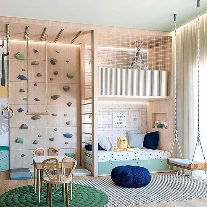 Wondeful Girls Room Design Ideas With Play Houses To Copy13