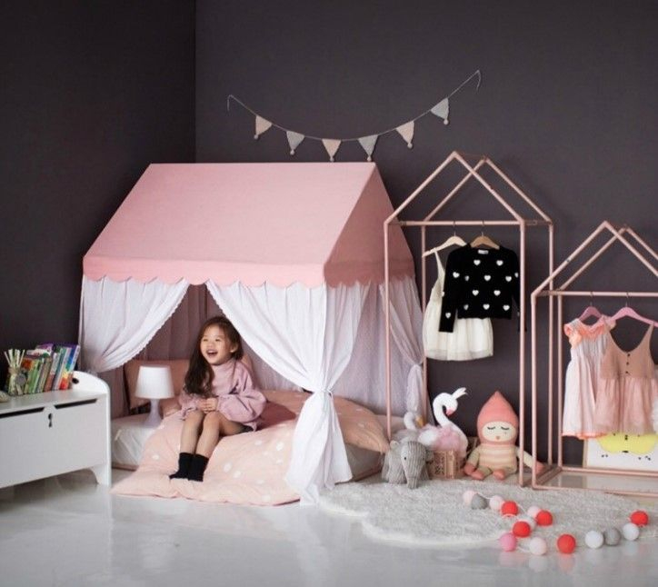 Wondeful Girls Room Design Ideas With Play Houses To Copy29