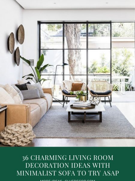 36 Charming Living Room Decoration Ideas With Minimalist Sofa To Try Asap
