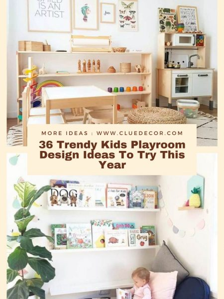 36 Trendy Kids Playroom Design Ideas To Try This Year