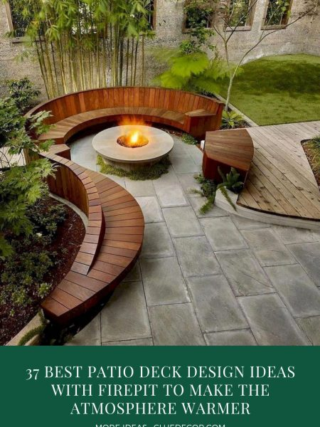 37 Best Patio Deck Design Ideas With Firepit To Make The Atmosphere Warmer