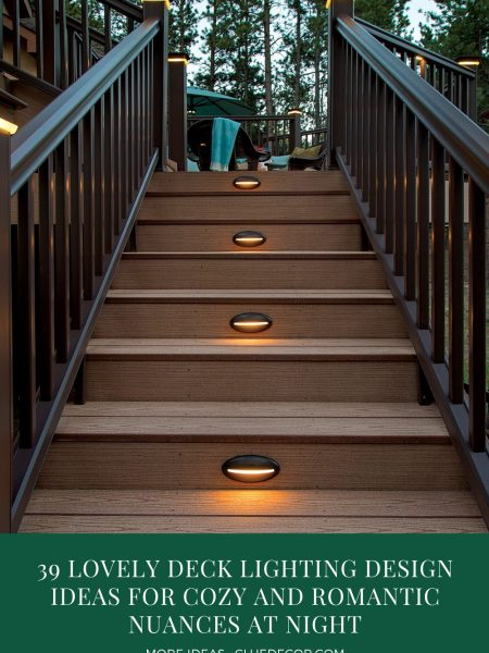 39 Lovely Deck Lighting Design Ideas For Cozy And Romantic Nuances At Night
