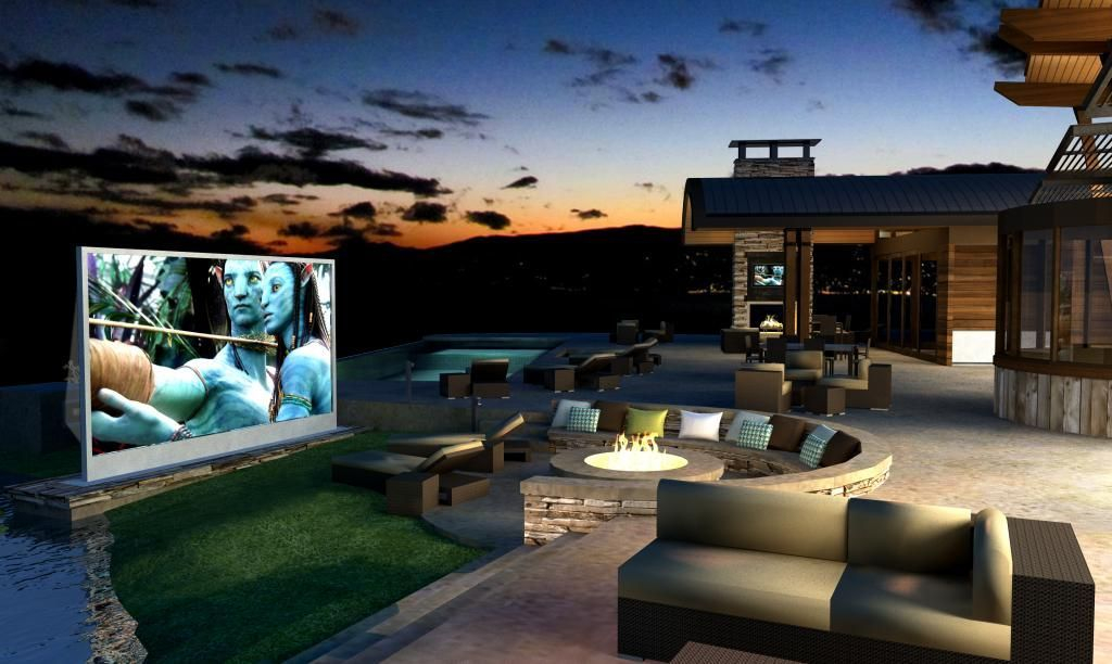 Chic Outdoor Home Theaters Design Ideas To Have Asap15