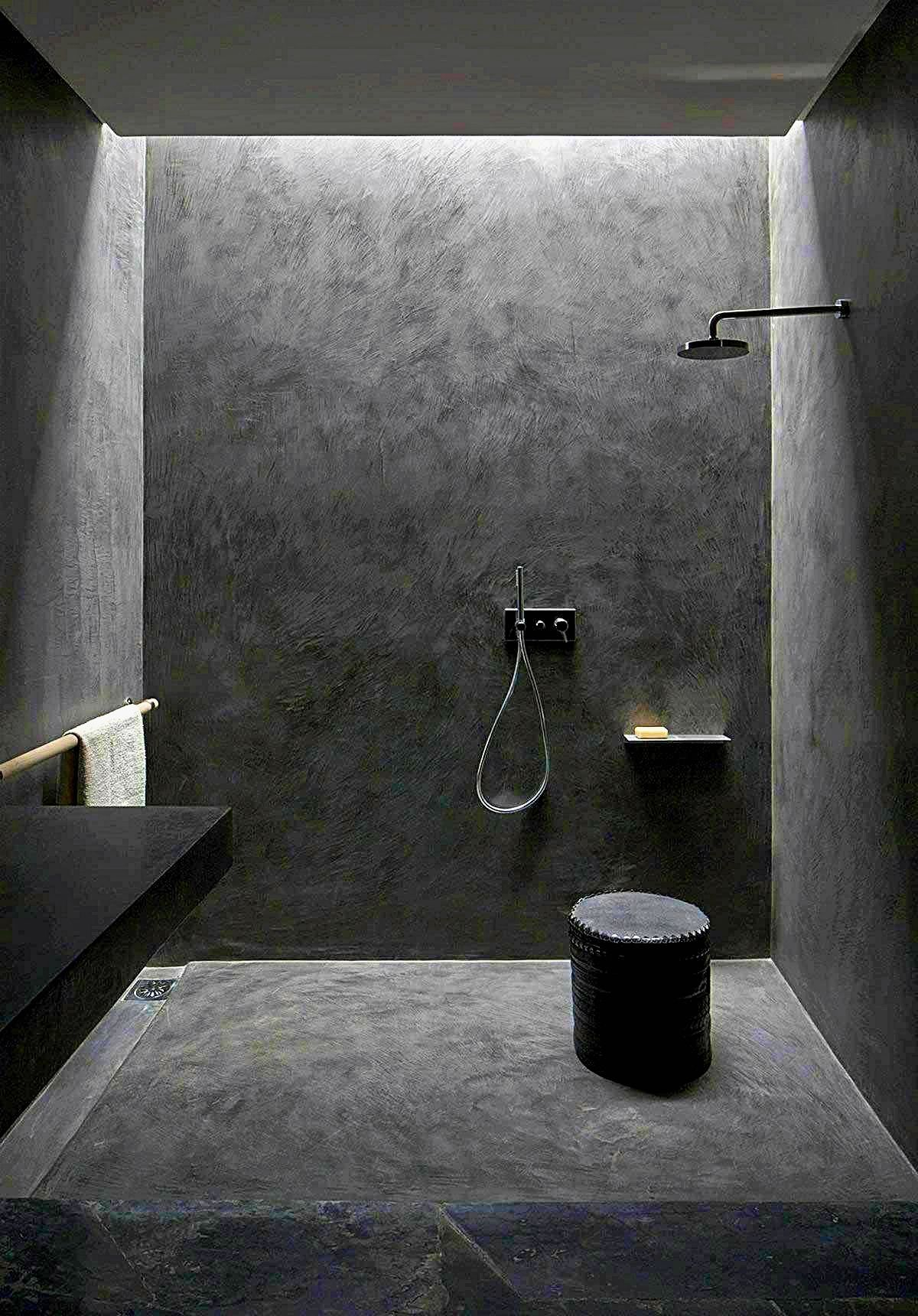 Stunning Black Bathroom Shower Design Ideas That You Need To Copy04