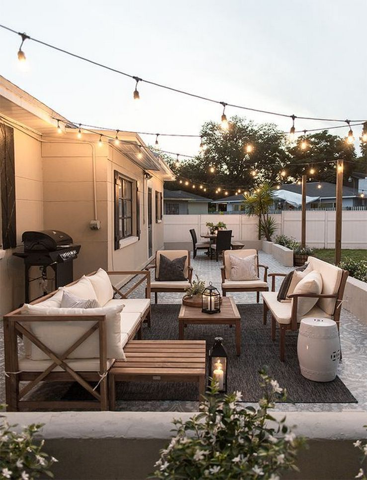 Wonderful Outdoor Living Room Design Ideas For Enjoying Your Days14