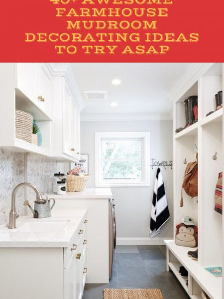 40+ Awesome Farmhouse Mudroom Decorating Ideas To Try Asap