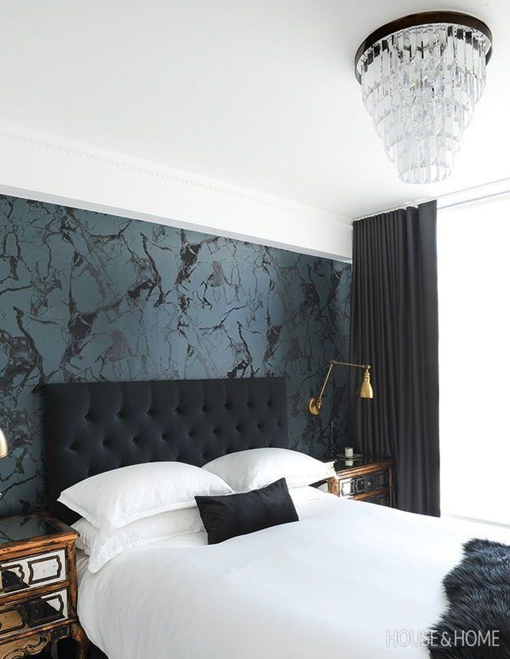 Best Bedroom Wallpaper Decor Ideas That Suitable For Your Family 23