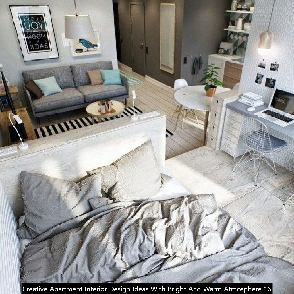 Creative Apartment Interior Design Ideas With Bright And Warm Atmosphere 16