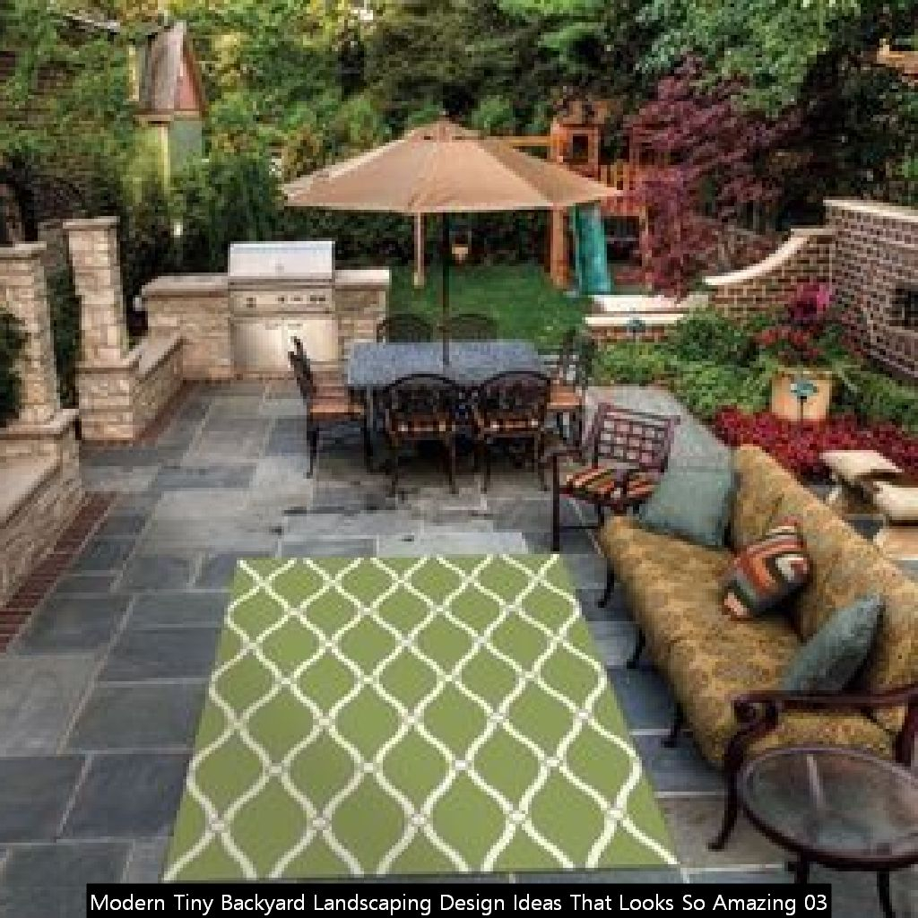 Modern Tiny Backyard Landscaping Design Ideas That Looks So Amazing 03