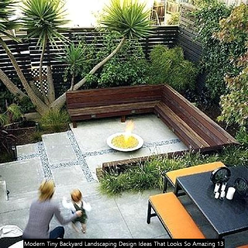 Modern Tiny Backyard Landscaping Design Ideas That Looks So Amazing 13
